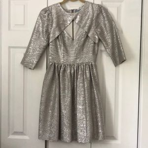 Plenty by Tracey Reese Metallic 3/4 sleeve dress